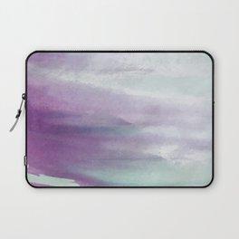 Purple green watercolor swash Laptop Sleeve