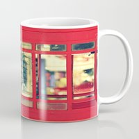 telephone Mugs featuring Telephone by Irène Sneddon