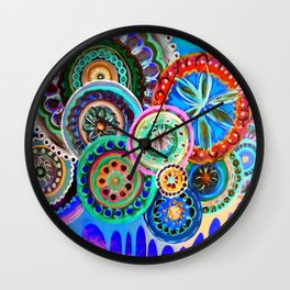 Inverted Flowers Wall Clock