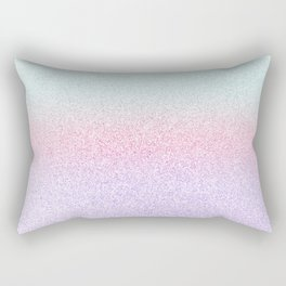 Colorful Purple, Pink and Green Watercolor Trendy Glitter Mermaid Pastel Iridescent Rectangular Pillow