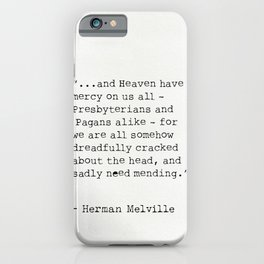 Herman Melville quote 6 iPhone Case