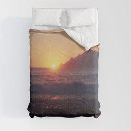 Crash into me - Romantic Sunset @ Beach #1 #art #society6 Comforters