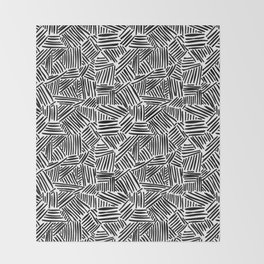 Minimalist Black And White Pattern Throw Blanket