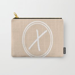 Monogram - Letter X on Pastel Brown Background Carry-All Pouch