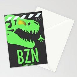 BZN Bozeman Yellowstone airport code Stationery Cards