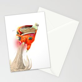 Mr Mars Jetpack Pose Stationery Cards