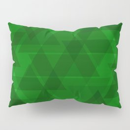 Bright green triangles in intersection and overlay. Pillow Sham
