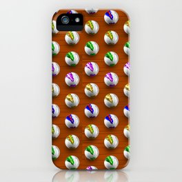 Marbles on Wood Pattern iPhone Case