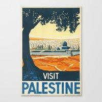 palestine Canvas Prints featuring Palestine by Lost & Found