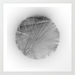 Wireframe Composition No. 14 Art Print