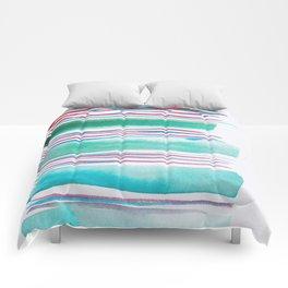 6   |181026 Lines & Color Block | Watercolor Abstract | Modern Watercolor Art Comforters