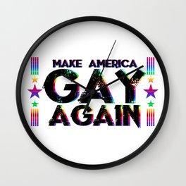 LGBT Queer Pride Make America Gay Again Wall Clock