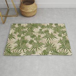 Pineapple Camo and Pineapple Luau Hawaiian Hula Girl Prints Rug