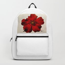 Red Winter Rose Backpack