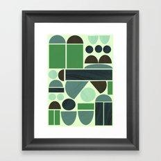 Town Hall (Green) Framed Art Print