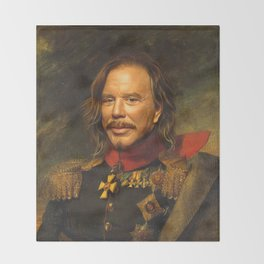 Mickey Rourke - replaceface Throw Blanket