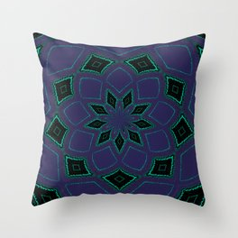 Shipibo Inspired Journey Tapestry Throw Pillow