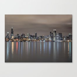 Chicago After Dark Canvas Print