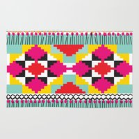 ethnic Area & Throw Rugs featuring Ethnic by Maria Blanco