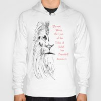 narnia Hoodies featuring Revelation 5:5 Lion by Vertical Designs