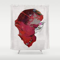 radio Shower Curtains featuring SKULL RADIO by kasi minami