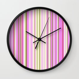 Stripe obsession color mode #9 Wall Clock