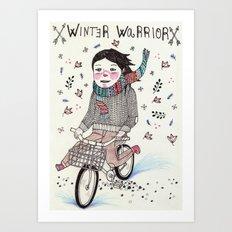 Winter Warrior Art Print
