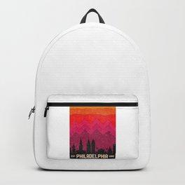intage Philadelphia Philly Pennsylvania Skyline Backpack