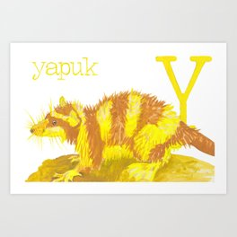 Y is for Yapuk Art Print