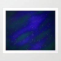 Seeing Stars- Blue Art Print