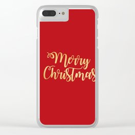 Merry Christmas Type Clear iPhone Case