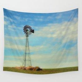 Farm Windmill Wall Tapestry