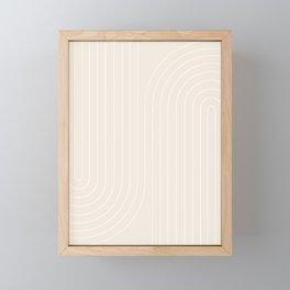 Minimal Line Curvature XI Framed Mini Art Print