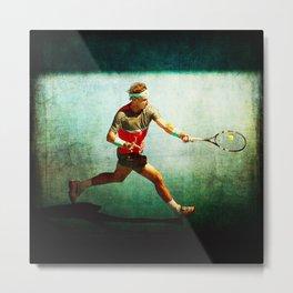 Nadal Tennis Forehand Metal Print