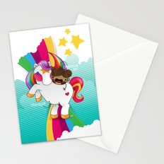 Chestnut Girl And Starlight Stationery Cards