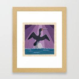 Air Cormorant Framed Art Print