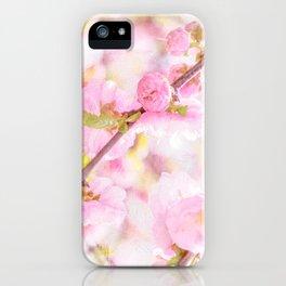 Pink sakura flowers - Japanese cherry blossom iPhone Case