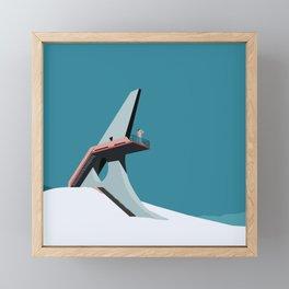 Soviet Modernism: Viewing platform in Sevan Framed Mini Art Print