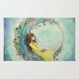 The Girl At The Moon Rug