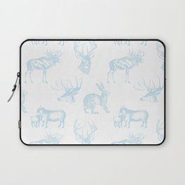 Woodland Critters in Winter Blue Laptop Sleeve