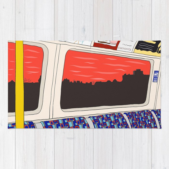 View from London Jubilee Line Rug