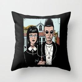 American Goth Throw Pillow