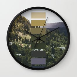 The sea, the land, the mountains Wall Clock