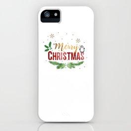 Merry Christmas Penguin! iPhone Case