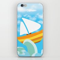 sail iPhone & iPod Skins featuring Sail by Lany Nguyen