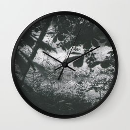 Deer Through the Leaves Wall Clock