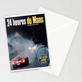 Le Mans poster, 1971, Le Mans t shirt, vintage car poster Stationery Cards