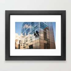 New York City Window Washers Framed Art Print