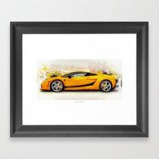 Golden Lambo Framed Art Print