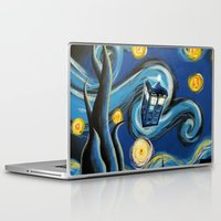 daenerys targaryen Laptop & iPad Skins featuring Tardis Starry Night by DavinciArt